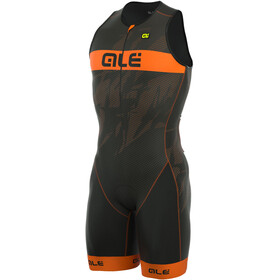 Alé Cycling Triathlon Long Record Tri Body Men Front Zipper black-fluo orange